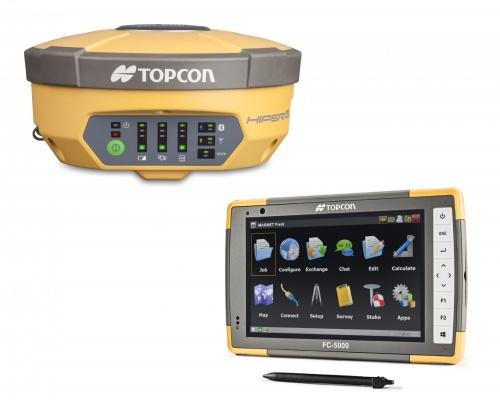 Полевой компьютер Topcon FC-5000 в роверном комплекте с ГНСС-приемником Topcon Hiper V