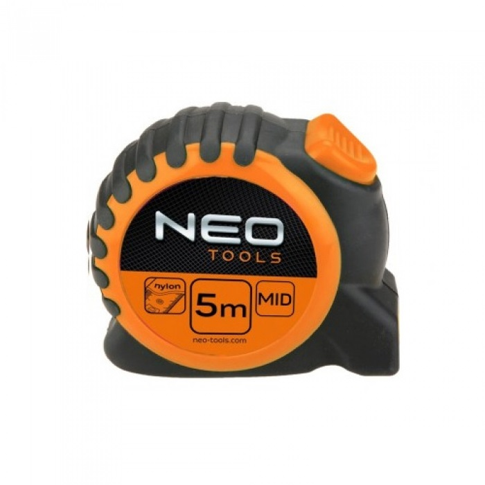 Рулетка Neo 67-165 5м/25мм с фиксатором selflock